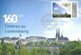 14 Au 16 Septembre 2012  -  160 Ans  -  Timbres Au Luxembourg - Cartes Maximum