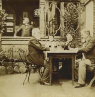 France Alsace Niederbronn Terrasse Du Café 6 Anciennes Photos Amateur 1901 - Lieux