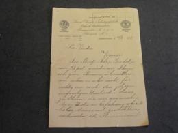 KJOBENHAVN-11/1/1915-SIMON OLESEN'S TRIKOTAGEFABRIK - Courrier à Sté La Vesdre à Verviers - Manuscrits