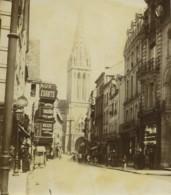 France Vues De Caen Set De 12 Anciennes Photos Amateur 1890 - Lugares