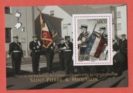 W34 St Pierre Et Miquelon 2019 Bloc Gendarmerie - Blocks & Sheetlets