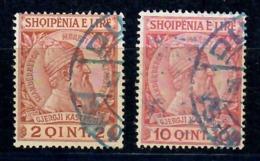 ALBANIA 1913 - GIORGIO CASTRIOTA SCANDERBEG - 2 VALORI USATI - Albania