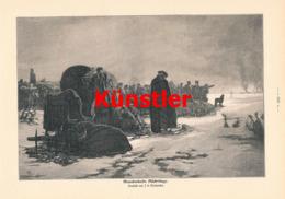 1393 Merkwicka Mazedonien Flüchtlinge Winterbild Druck 1904 !! - Prints