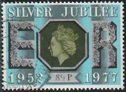 GB 1977 Yv. N°829 - 8p1/2 Silver Jubilee - Oblitéré - 1952-.... (Elizabeth II)