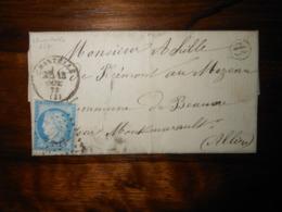 Lettre GC 877 Chantelle Allier Avec Correspondance - 1849-1876: Période Classique