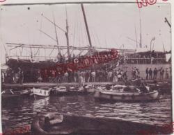 Au Plus Rapide Fin XIX ème Siècle Paquebot Liban Marseille Arrivée Des Passagers De Corse Très Bon état - Schiffe