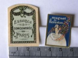 Etiquettes De Parfum - Lot De 2 - Muguet De Florestan Et Essence Concentrée De Paris - Labels