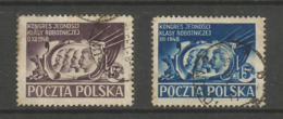 Poland - 1948 Workers Congress Used  SG 637 & 640 - 1944-.... Republik