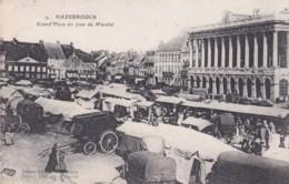 HAZEBROUCK - GRAND PLACE UN JOUR DE MARCHE - Hazebrouck
