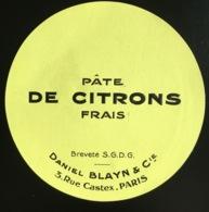 Belle étiquette Jaune Citron Pâte Daniel Blayn Rue Castex Paris Citron Frais - Fruits & Vegetables
