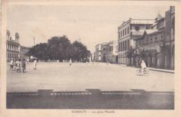 CARTOLINA - DJIBOUTI - GIBUTI - LA PLACE MèNèLIK - VIAGGIATA - Gibuti