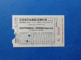 1997 BIGLIETTO DI TRASPORTO AUTOBUS PULMAN BUS COSTABILEBUS SRL - Otros
