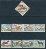 MONACO Mi. Nr. 980-988 Vollblutpferde- Siehe -scan - MNH - Farm