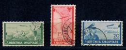 ALBANIA 1940 - POSTA AEREA -3 VALORI USATI - Albanie