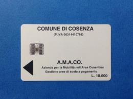 SCHEDA CARD PER PARCHEGGIO AMACO GESTIONE AREE DI SOSTA COSENZA L 10000 - Toegangskaarten