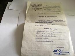 Combattants Républicain Union Des Naturalisé  Seyne-sur-Mer Var - Decrees & Laws