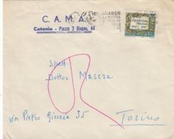 9565-BUSTA PUBBLICITARIA C.A.M.A. - CATANIA -1958 - Pubblicitari