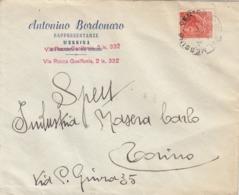 9566-BUSTA PUBBLICITARIA ANTONINO BORDONARO-RAPPRESENTANZE - MESSINA -1958 - Pubblicitari