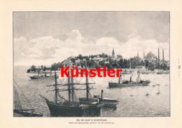 1395 Hoffmann Konstantinopel Schiffe Hafen Mosche Druck 1898 !! - Prints