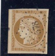 France - Cérès - N°Y.T 1 - 10cBistre-jaune, Oblit Losange PC 578 - Signé Calves - Cote 350€ - 1849-1850 Ceres