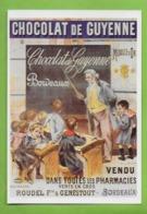 CPM UN SIECLE DE RECLAMES ALIMENTAIRES.Gastronomie.CHOCOLAT DE GUYENNE ( 1895 ). Cuisine. - Advertising