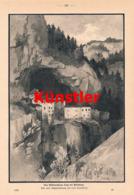 1396 Toni Grubhofer Höhlenschloss Lueg Adelsberg Druck 1900 !! - Prints