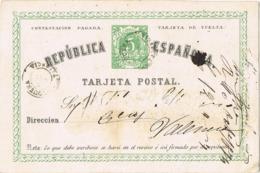 34158. Entero Postal REQUENA (Valencia) 1874, Edifil Num 2v - Enteros Postales