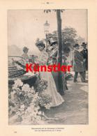 1397 Hlavaty Blumenmarkt Karlsbad Karlovy Vary Druck 1901 !! - Prints