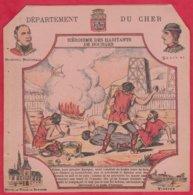 Protége Cahier Ancien Fin XIXéme Collection Serie INSTRUCTIVE  Dep Du CHER ( Héroïsme Des Habitants De Bourges) - Protège-cahiers