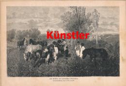 1398 Gierynski Gestüt Polen Starosten Starosty Pferde Druck 1871 !! - Prints