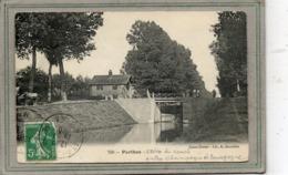 CPA - PERTHES (52) - Aspect Du Chemin De Hallage Et De L'écluse Du Canal Entre Champagne Et Bourgogne En 1910 - Other Municipalities