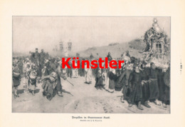 1400 Rjepin Prozession Kursk Kypck Kirche Druck 1906 !! - Prints