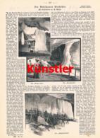 1401 Anvay Mahn Dubschauer Dobsina Dobschau Eishöhle Druck 1897 !! - Prints