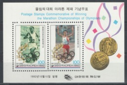 Corée Du Sud - Bloc - BF - YT 437 ** MNH - 1992 - Vainqueurs Du Marathon Des Jeux Olympiques - Corée Du Sud
