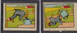 Illustrateur B. RABIER - Lot De 4 Plaques De Verre Lanterne Magique- 10x8,5 Cm - RARE (lot Pat 16) - Diapositiva Su Vetro