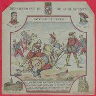 Protége Cahier Ancien Fin XIXéme Collection Serie INSTRUCTIVE  Dep De La CHARENTE ( Bataille De Jarnac) - Book Covers