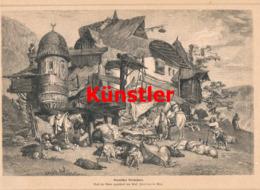 1402 Zverina Bosnien Wirtshaus Bosna Wirtschaft Druck 1897 !! - Prints