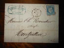 Lettre GC 822 Cette Herault Avec Correspondance Et Facture - 1849-1876: Classic Period