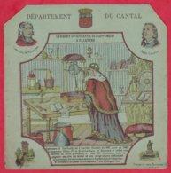 Protége Cahier Ancien Fin XIXéme Collection Serie INSTRUCTIVE  Dep Du Cantal ( Gerbert Inventant L'échappement à Palett) - Book Covers