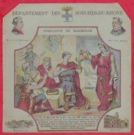Protége Cahier Ancien Fin XIXéme Collection Serie INSTRUCTIVE  Dep Des Bouches-du-rhone (Fondation De Marseille) - Protège-cahiers