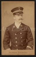 Photo / CDV / Militair / Soldier / Soldat / Kongo / Congo / Albert Deckers / Ixelles-les-Bruxelles / Ixelles / 2 Scans - Guerre, Militaire