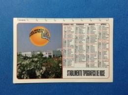 1993 CALENDARIETTO CALENDARIO STABILIMENTO TIPOGRAFICO DE ROSE COSENZA - Calendari