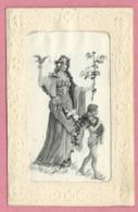 Fantaisie - Carte Tissée Soie - Silk - Femme - Enfant - Fancy Cards