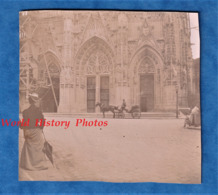 Photo Ancienne - ABBEVILLE ( Somme ) - Eglise Saint Vulfran - Vers 1900 - Attelage - Travaux - Echaffaudage - Photos