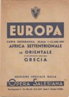 12660-CARTA GEOGRAFICA AFRICA SETTENTRIONALE ED ORIENTALE-SCALA 1:12.500.000 - Carte Geographique