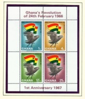 GHANA  -  1967 24th February Revolution Miniature Sheet Perf Unmounted/Never Hinged Mint - Ghana (1957-...)