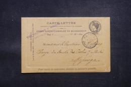 MADAGASCAR - Entier Postal Du Corps Expéditionnaire Pour Majunga En  1895, Griffe Et Oblitération Plaisantes - L 43643 - Madagascar (1889-1960)