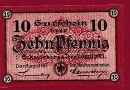 Allemagne 1 Notgeld De 10 Pfenning Stadt Eckartsberga (RARE) Dans L 'état N °4786 - Verzamelingen