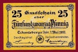 Allemagne 1 Notgeld De 25 Pfenning Stadt Eckartsberga (RARE) Dans L 'état N °4787 - Collections