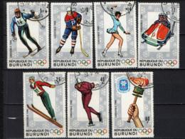 BURUNDI - 1968 - GIOCHI OLIMPICI INVERNALI A GRENOBLE - USATI - Burundi